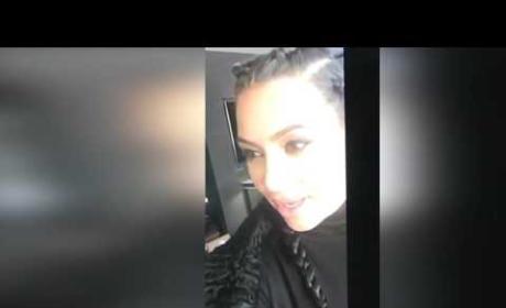 Kim Kardashian talks to baby Saint on her livestream