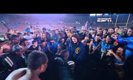 UCLA Football Player Proposes to Girlfriend on Field, Teammates Go Berzerk