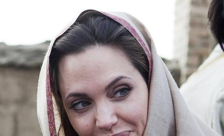Angelina Jolie Visits Tunisia, Riot Ensues