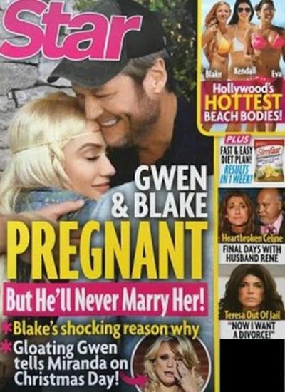 Gwen Stefani & Blake Shelton Tabloid Cover