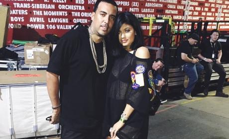 Kylie Jenner Cozies Up to French Montana, Rocks Hooker Boots in Disturbing Pic