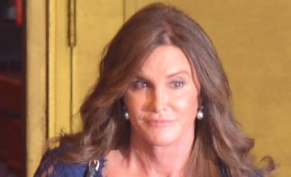 Caitlyn Jenner Rocks Lacy Top, Exposes Some Cleavage