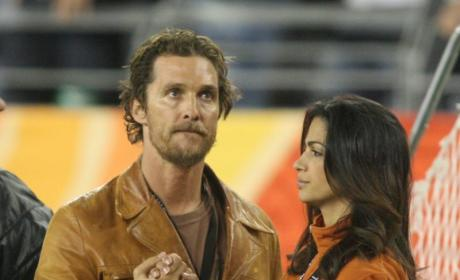 Camila Alves and Matthew McConaughey: In Love, at Baseball Game