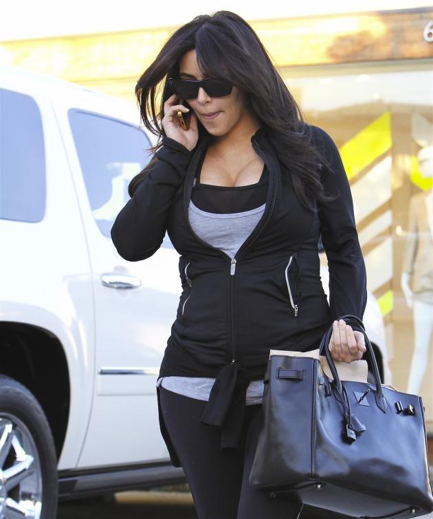 Kim Kardashian on the Cell