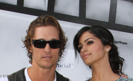 Matthew McConaughey and Camila Alves: Smelling, Looking Good