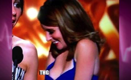 Tina Fey Nipple Slip at Emmy Awards