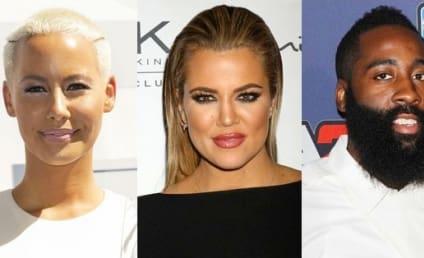 Khloe Kardashian-Amber Rose Feud: Fueled By James Harden Love Triangle?!