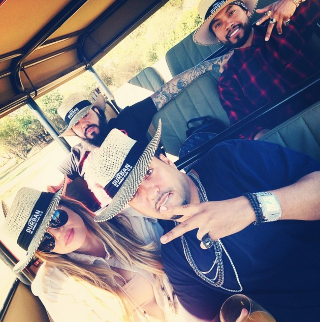 Khloe Kardashian and French Montana in South Africa