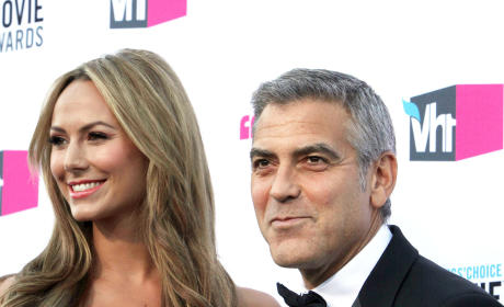 Stacy Keibler and George Clooney on the Red Carpet