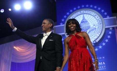 Obamas at Inaugural Ball