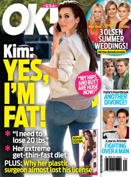 Kim Kardashian Fat Feature