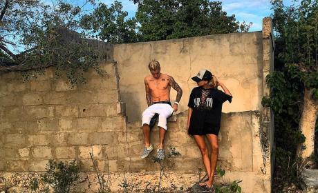 Justin Bieber and a Female Friend