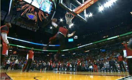 LeBron James Pre-Game Dunk: Hail the King!