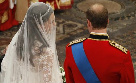 Prince William and Kate Middleton Steal a Moment At The Royal Wedding