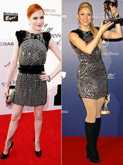 Evan Rachel Wood vs. Shakira