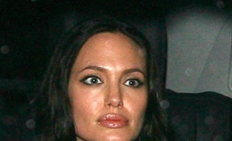 Jolie, Pitt and Shiloh Wax Figures on Display