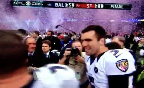 Joe Flacco Drops F-Bomb on CBS During Super Bowl Celebration