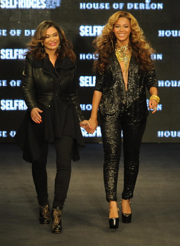 Beyonce and Tina Knowles