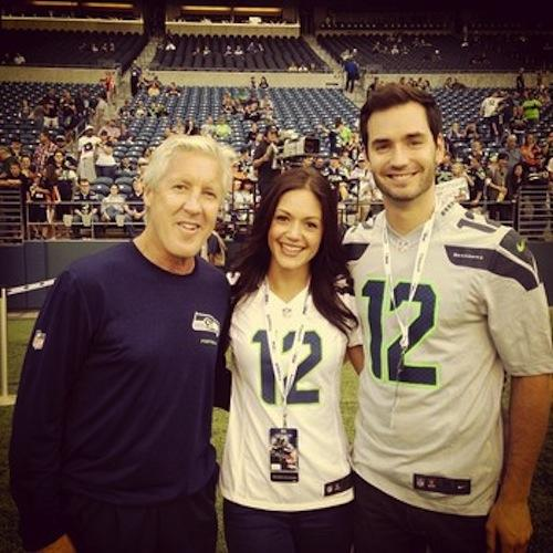 Desiree Hartsock, Chris Siegfried, Pete Carroll