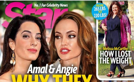 Angelina Jolie and Amal Alamuddin Star Magazine Cover