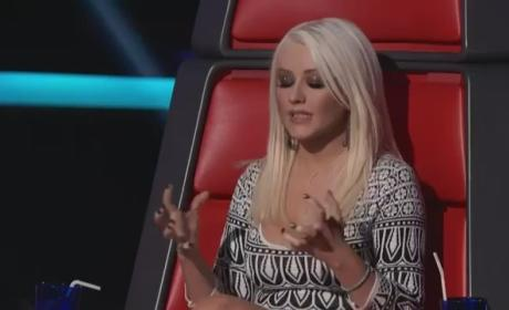 Christina Aguilera Crushes Tony Lucca on The Voice