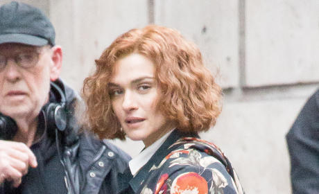Rachel Weisz On The Set Of 'Denial'