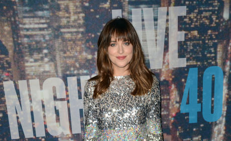 Dakota Johnson at SNL 40
