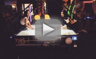 Kim Kardashian and Blac Chyna Play Air Hockey