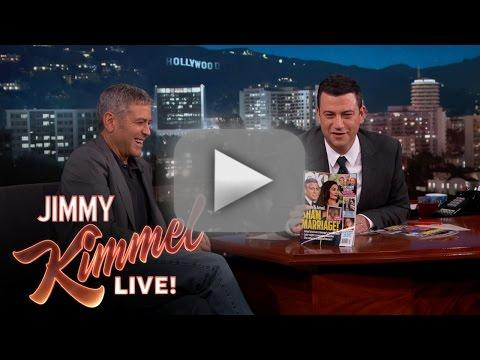 George clooney laughs over sham marriage magazine cover
