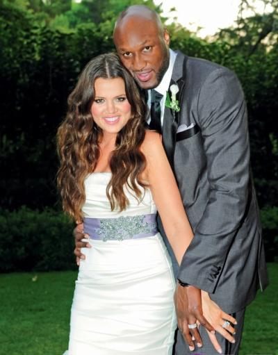 Lamar Odom and Khloe Kardashian Wedding Picture