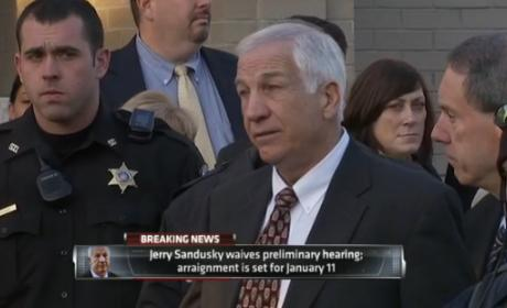 "Jerry Sandusky Waives Hearing, Vows a ""Fight to the Death"""