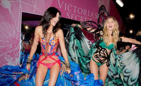 Kendall Jenner and Gigi Hadid Celebrate the 2015 Victoria's Secret Fashion Show