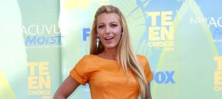 Blake Lively in Orange Dress