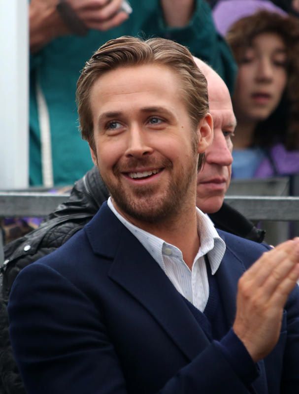 Ryan gosling attends steve carrells hollywood walk of fame cerem