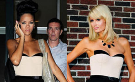 Who wore it better, Rihanna or Paris Hilton?