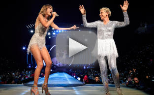 Ellen DeGeneres Rocks Sparkly Tutu on Stage with Taylor Swift