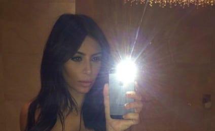 Kim Kardashian Selfie Alert: Look at My Cleavage!