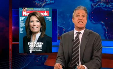 "Jon Stewart Rips ""Petty"" Newsweek Over Michele Bachmann Cover"