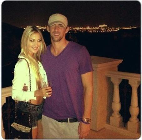 Megan Rossee and Michael Phelps Photo