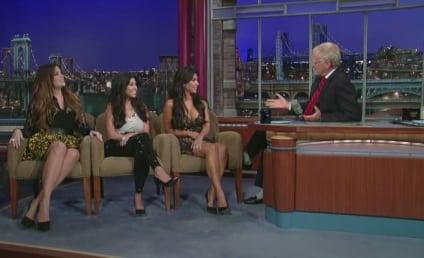 Kardashian Sisters Appear on The Late Show, Talk Kim's Butt