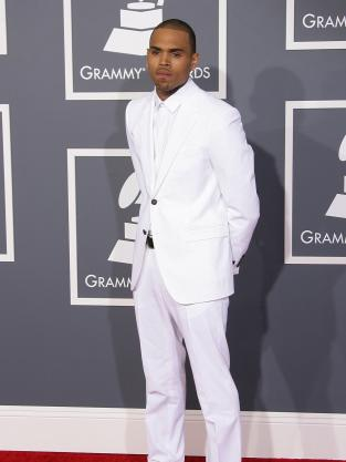 Chris Brown at 2013 Grammys