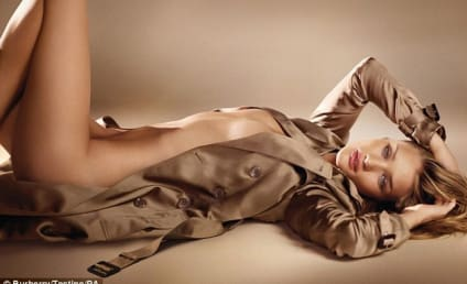 Rosie Huntington-Whiteley Strips Down for Burberry