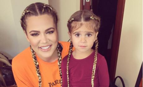 Khloe Kardashian and Penelope Disick rock extensions