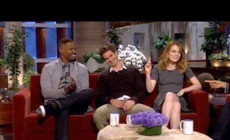 Andrew Garfield and Emma Stone Get Embarrassed on Ellen