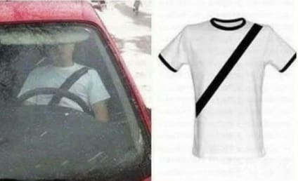 Seatbelt T-Shirts Help Chinese Drivers Get Around Totally Unnecessary, Intrusive Law