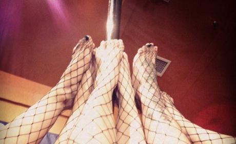 Kim Kardashian Takes Larsa Pippen and Blac Chyna To A Strip Pole Workout