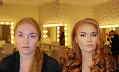 Before and After Makeup Pics