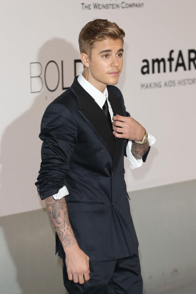 Justin Bieber in a Dark Suit