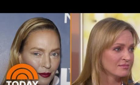 Uma Thurman Talks Makeup Mishap