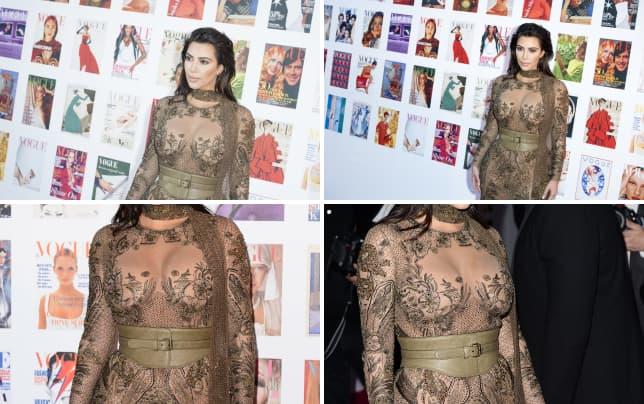 Kim kardashian at vogue gala